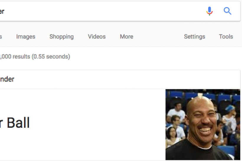 LaVar Ball Founded the NBA, According to Google""