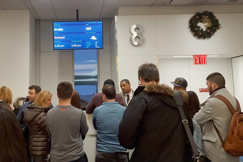 Flights cancelled due to winter storm