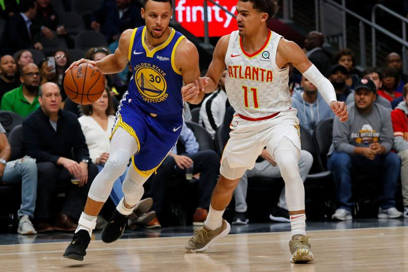 Stephen Curry and Trae Young