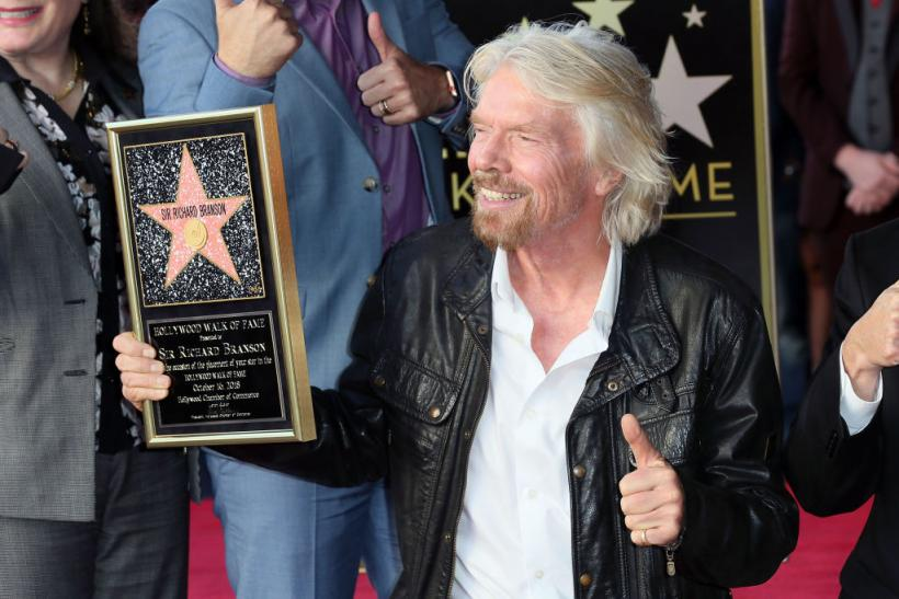 Sir Richard Branson receives his Star