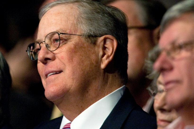 Billionaire David Koch, pictured in 2011, was estimated to be worth $42.4 billion