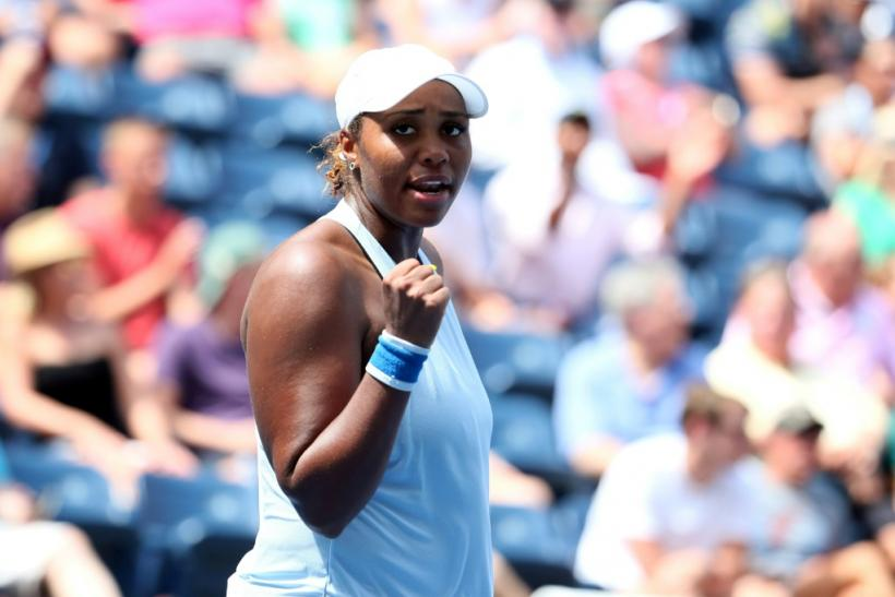 Taylor Townsend is through to the last 16 at a Grand Slam for the first time