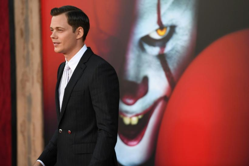 "Bill Skarsgard, who plays Pennywise, arrives for the World premiere of ""It Chapter Two"" at the Regency Village theatre in Westwood, California"