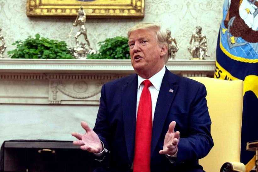 Trump speaks to reporters in the White House on September 11, 2019
