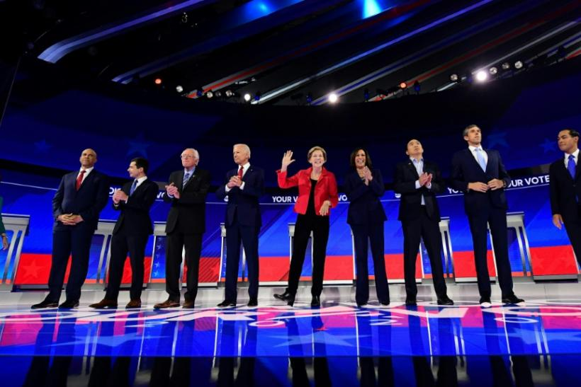 Ten Democratic hopefuls scrambled for breakout moments on the debate stage in Houston as they vie for the right to challenge Donald Trump