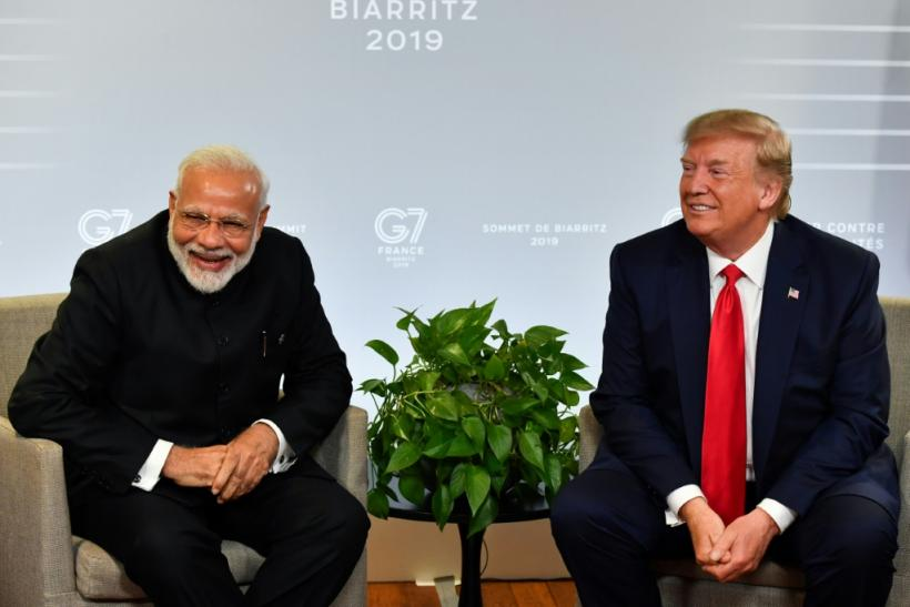 Indian Prime Minister Narendra Modi and US President Donald Trump meet in Biarritz, France during a Group of Seven summit in August 2019