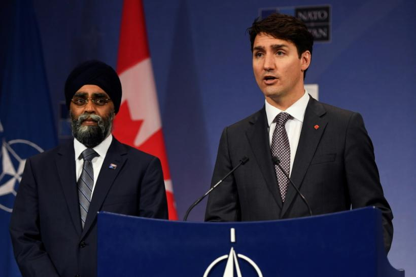 Canadian Prime Minister Justin Trudeau (R), flanked by his Minister of Defense Harjit Singh Sajjan (L) in 2017 -- Trudeau is a fervent advocate of Canadian multiculturalism