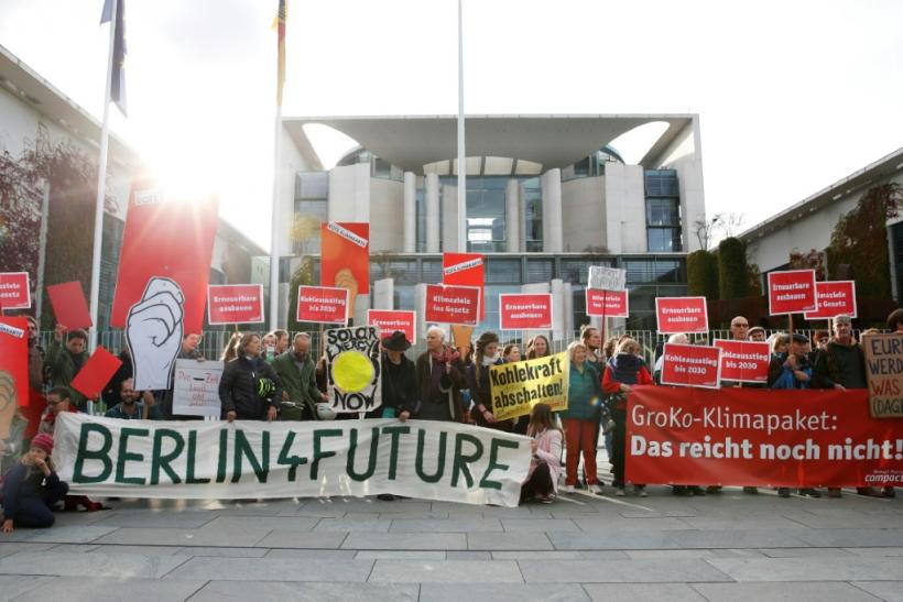 Protesting voices have grown louder in Germany, putting pressure on Chancellor Angelaq Merkel and her government to strike a broad climate deal