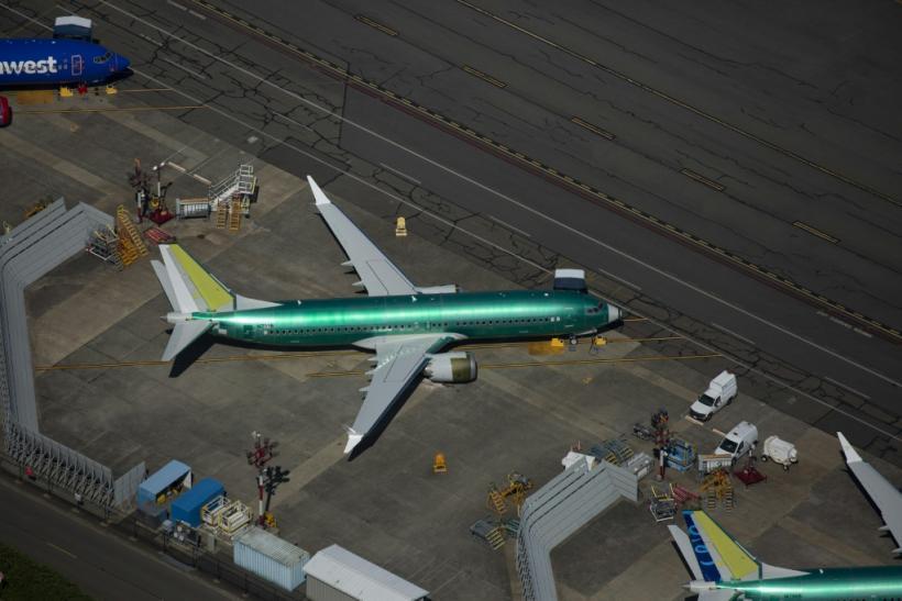 Boeing 737 MAX airplanes are seen parked for storage at a Boeing facility on August 13, 2019 in Renton, Washington, United States
