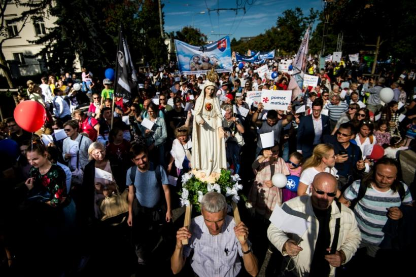 "The ""National March for Life"" attracted 50,000 people, according to the Catholic Episcopal Conference of Slovakia which organised the event."