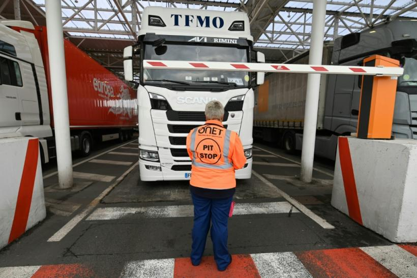 Like this test at Eurotunnel last week, staff have been checking trucks on their way to Britain in a test of post-Brexit customs measures