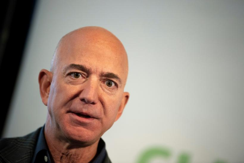 Amazon Founder and CEO Jeff Bezos speaks on company sustainability efforts on September 19, 2019 in Washington; Amazon is the latest company to be sued under a US law for profiting from property seized by Cuba's communist government after the 1959 revolut
