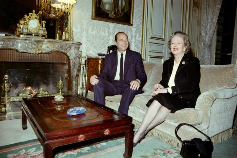 Jacques Chirac, seen here with Margaret Thatcher in 1987, was caught on microphone making an offensive remark during tense European talks with the British prime minister