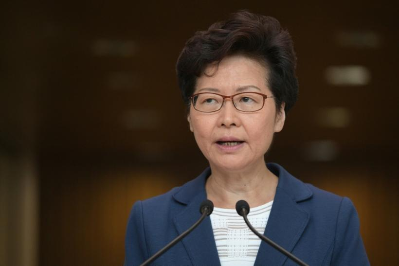 Carrie Lam told reporters she believed Hong Kong can tackle the crisis on its own
