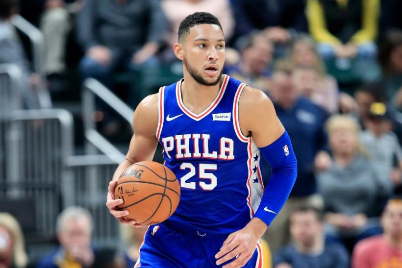 Australian Ben Simmons sparked the Philadelphia 76ers to an NBA pre-season victory over China's Guangzhou Lions on Tuesday from which two spectators supporting Hong Kong freedom were removed from the crowd