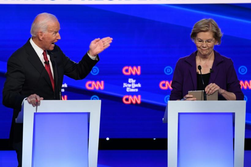 As she solidifies her status as a frontrunner, Senator Elizabeth Warren faced a pile-on in the fourth Democratic presidential debate of the 2020 cycle by rivals including former vice president Joe Biden