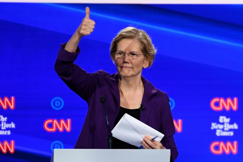 A recent poll showed Senator Elizabeth Warren leading the race to become the Democratic candidate for the US presidential election in 2020