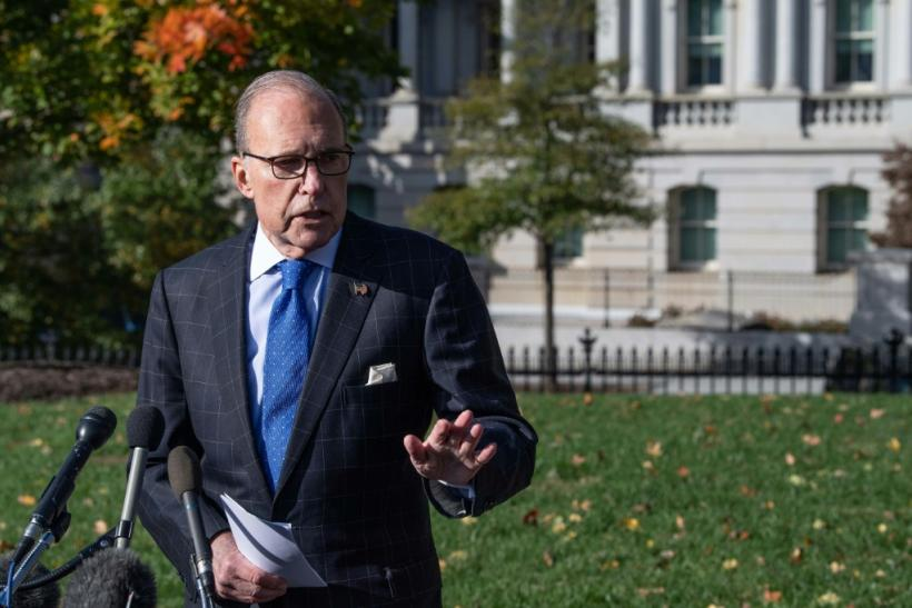 National Economic Council Director Larry Kudlow speaks to reporters at the White House on November 1, 2019