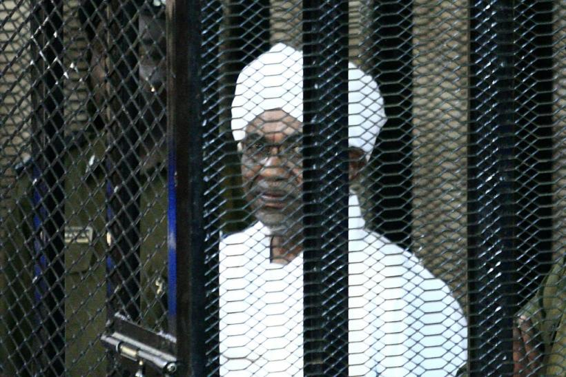 Sudan's ex-president Omar al-Bashir appears during an August court appearance in his trial on charges of illegally acquiring and using foreign funds