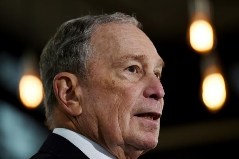 Former New York Mayor and Democratic presidential candidate Michael Bloomberg on