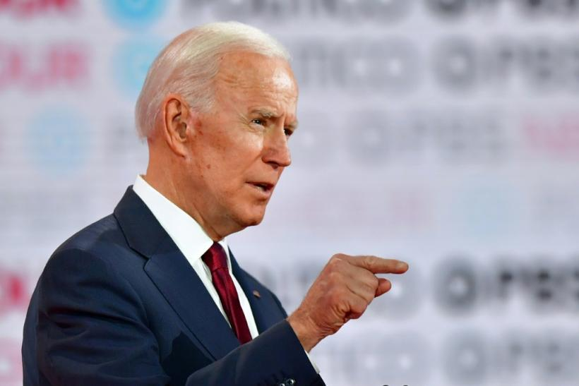 Former vice president Joe Biden, pictured at the Democratic Debate on December 19, has struggled with stuttering