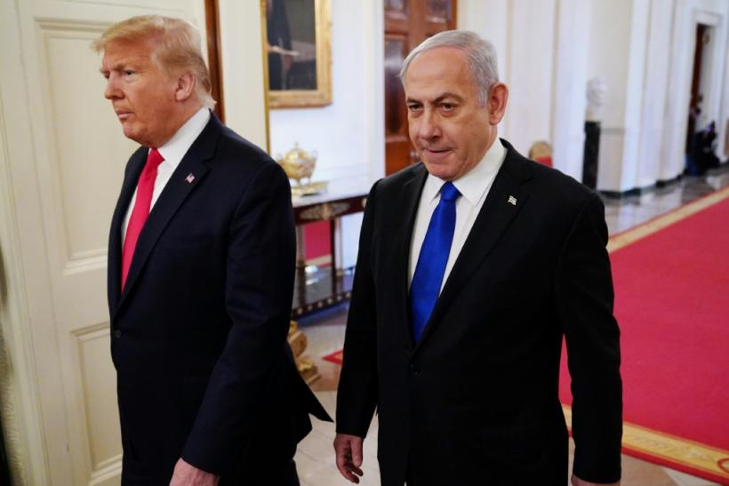 President Donald Trump was joined by Israeli Prime Minister Benjamin Netanyahu as he revealed key points of a peace plan already strongly rejected by the Palestinians