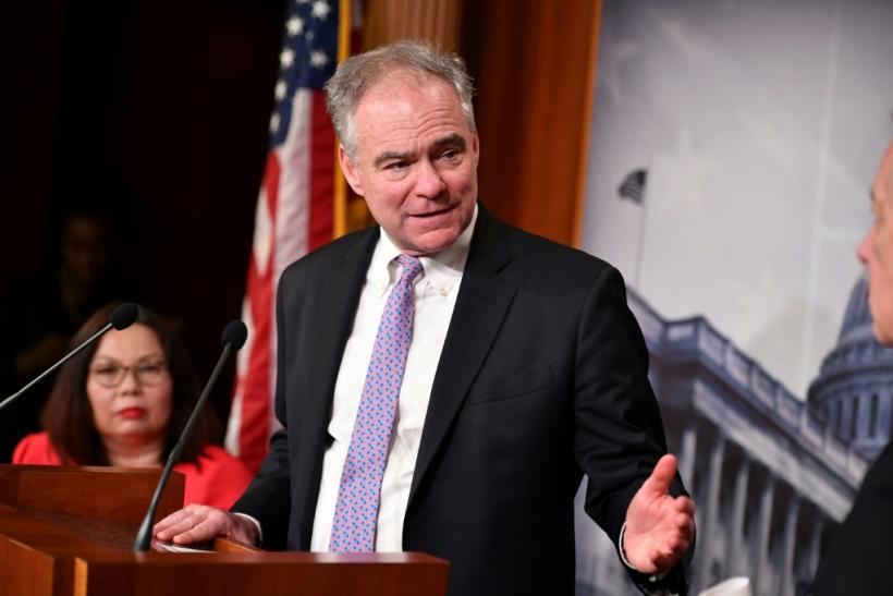 Senator Tim Kaine, seen here in February 2020, has led the bid to restrain President Donald Trump from attacking Iran without approval from Congress