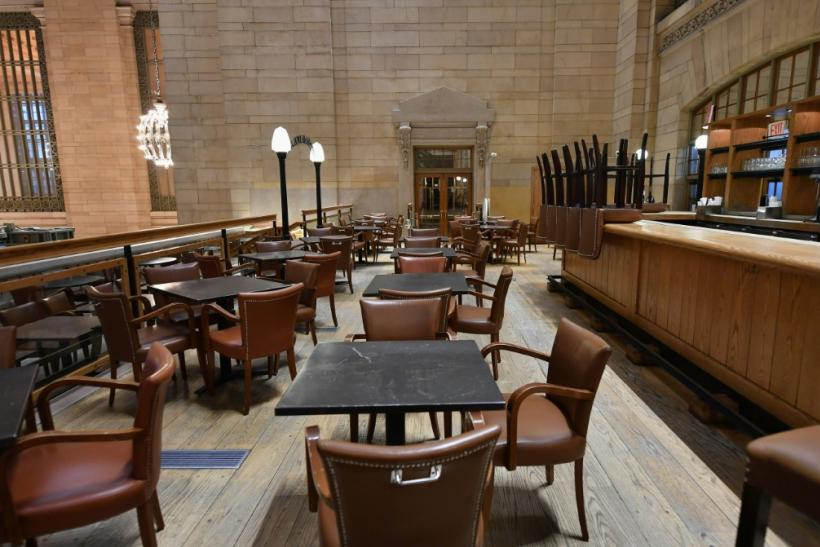 The coronavirus crisis is hitting the restaurant industry hard -- this empty eatery is at Grand Central Station in New York