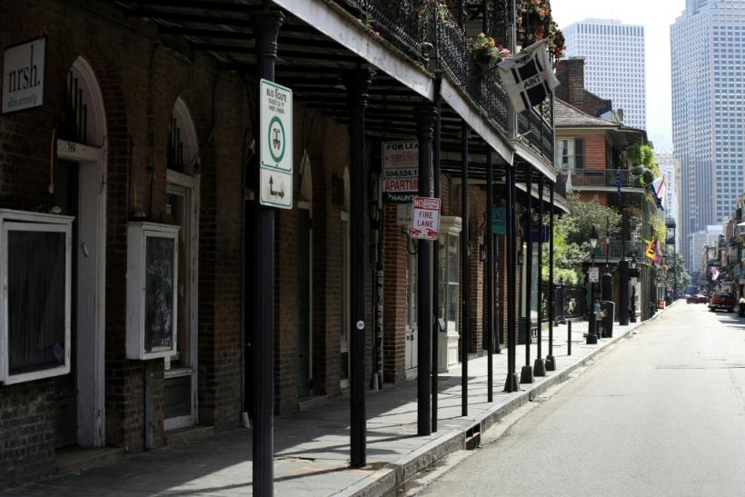 A massive small business program which has launched amid skyrocketing unemployment is meant to help shuttered small businesses, such as those seen in the French Quarter of New Orleans in in March 2020
