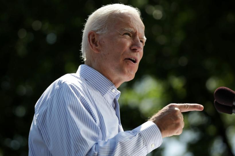 In this file photo taken on May 18, 2019, former US Vice President Joe Biden speaks during the kick off of his presidential election campaign in Philadelphia, Pennsylvania