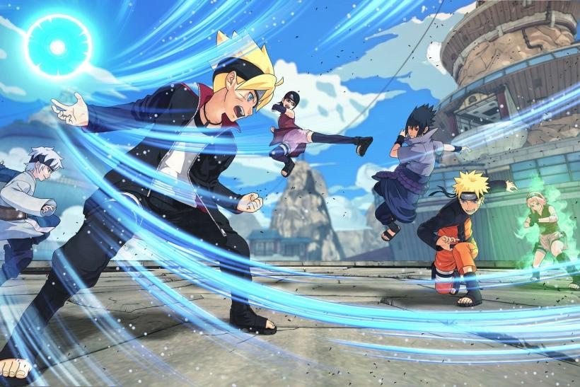 Boruto and Naruto in action