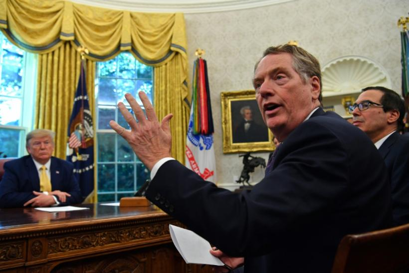 US Trade Representative Robert Lighthizer (C) said US President Donald Trump will seek reform on WTO rules on tariffs