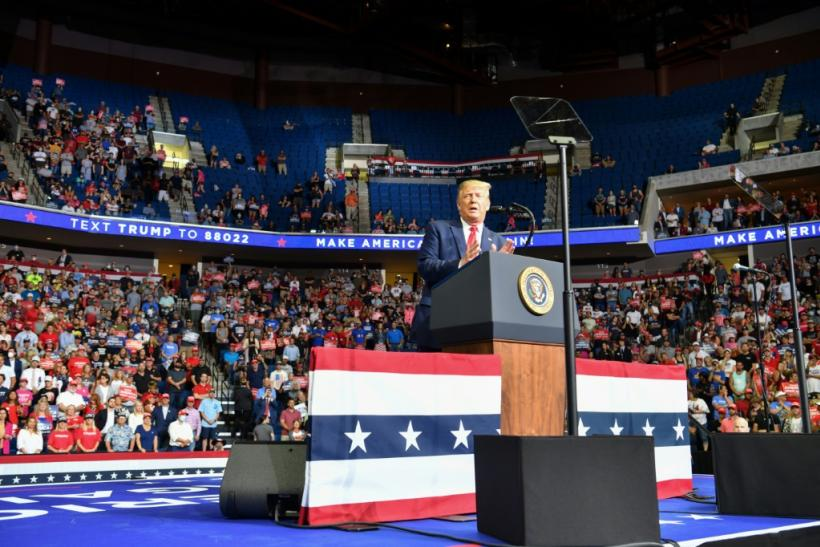 US President Donald Trump is looking for a political boost after poor attendance at his Tulsa campaign rally