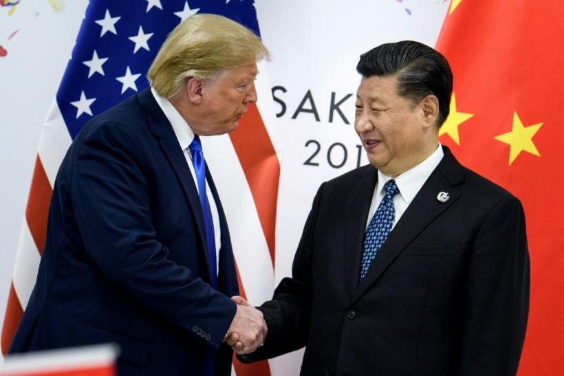 The current presidents of the United States and China, Donald Trump and Xi Jinping, meet in June 2019 in Osaka