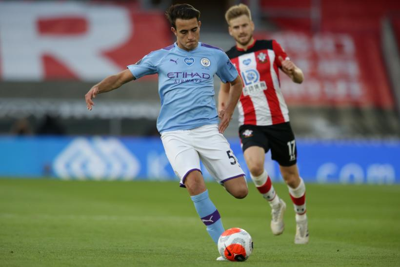 Eric Garcia of Manchester City and Stuart Armstrong of Southampton