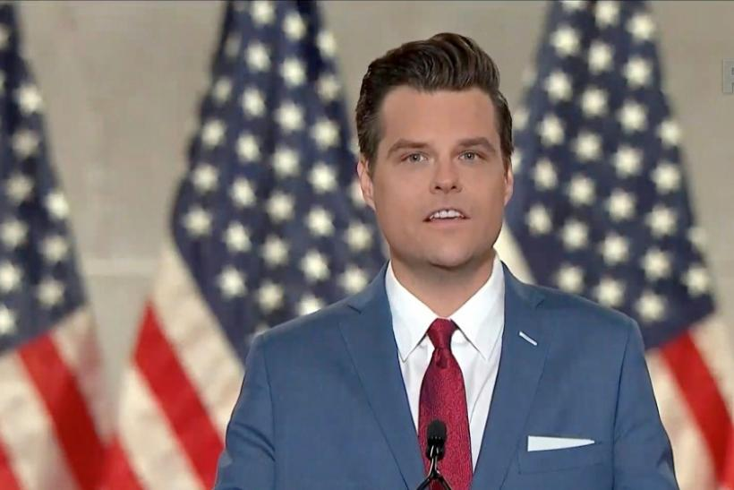 Matt Gaetz, a US congressman from Florida, addressed the first night of the Republican National Convention which was largely being held virtually amid the coronavirus pandemic