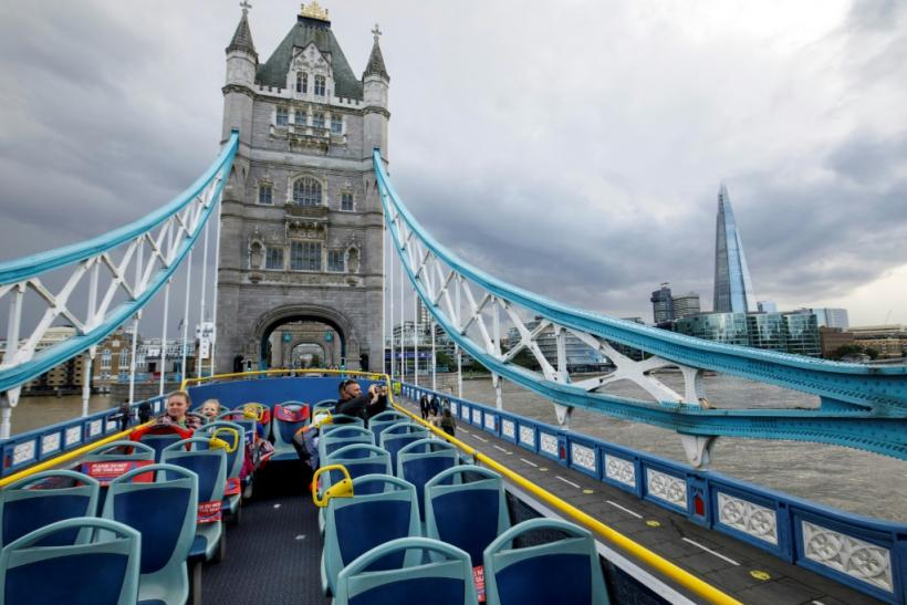 Tours of classic London attractions like Tower Bridge are losing out as more British people visit the capital