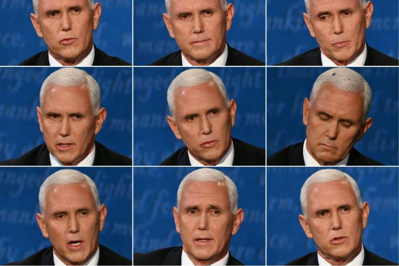 US Vice President Mike Pence during the vice presidential debate