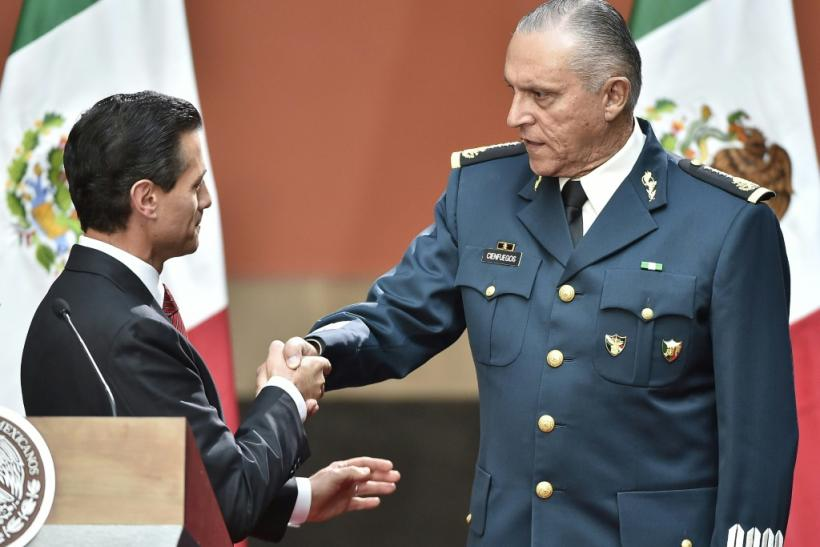 Mexico's former defense minister arrested in California on drug trafficking charges.