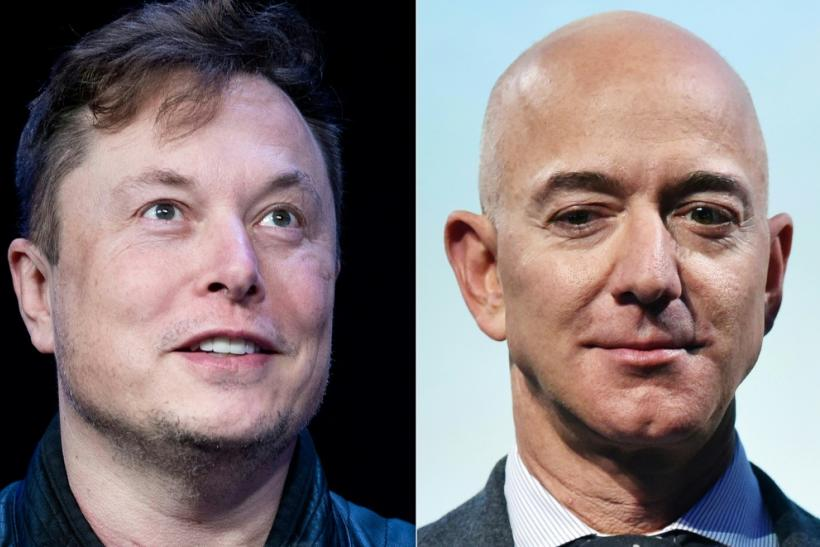 """Musk aimed low with a recent tweet saying """"can't get it up (to orbit)"""" in response to a post about Bezos-founded space company Blue Origin"""