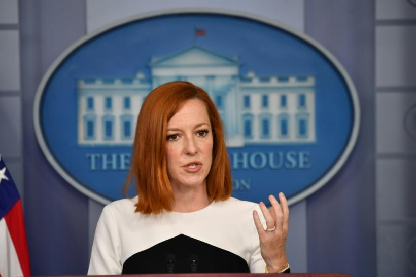 White House Press Secretary Jen Psaki, shown here at a press briefing on May 5, 2021, said free speech remains a concern of the US in joining the Christchurch Call