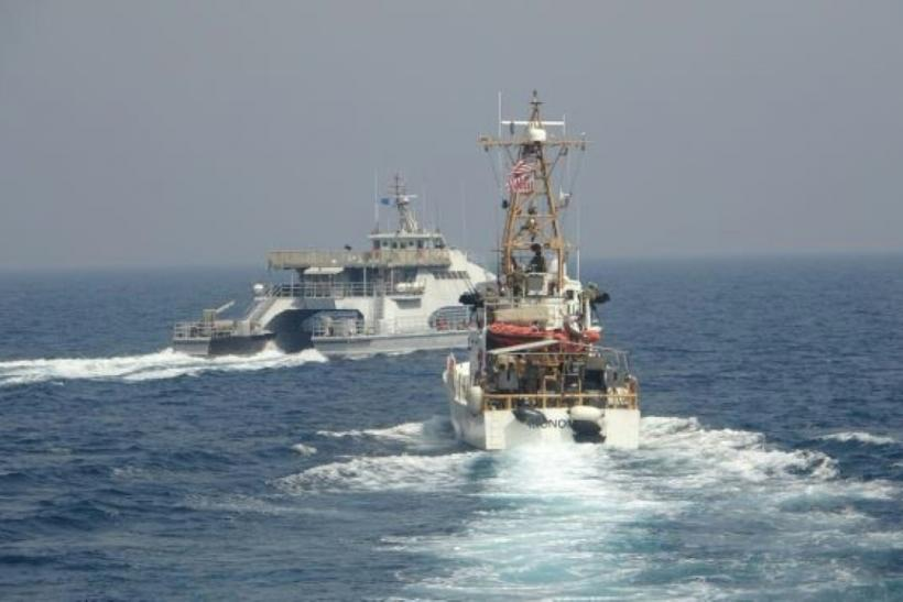 An earlier incident in which an Iranian navy ship crossed the bow of a US patrol boat in the Gulf on April 2, 2021