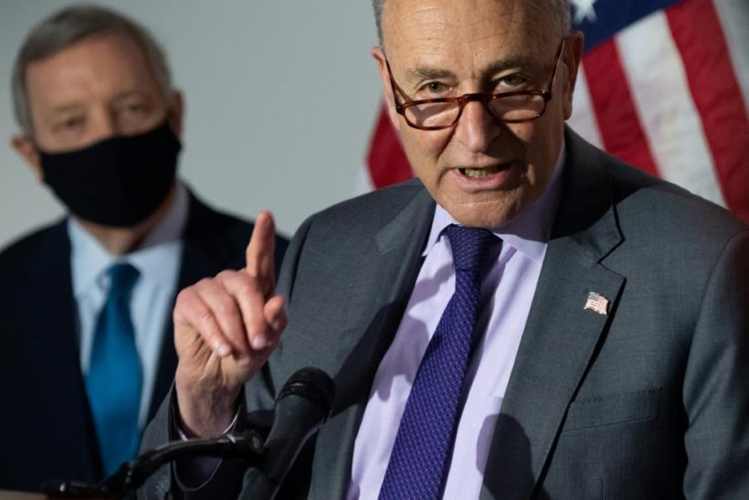 US Senate Majority Leader Chuck Schumer says former president Donald Trump's false claim that the 2020 election was stolen is spreading like a 'cancer' among Republicans