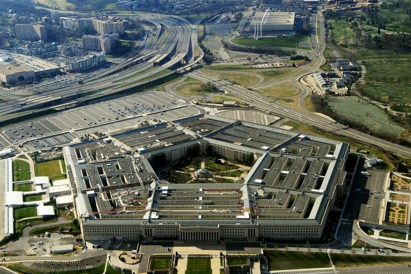 The Pentagon said that it had conducted airstrikes targeting 'two locations in Syria and one location in Iraq'