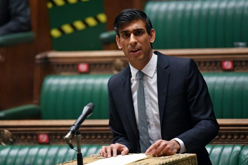 Britain's Chancellor of the Exchequer Rishi Sunak speaks in the House of Commons