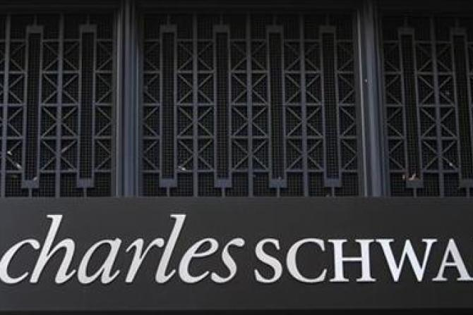 A Charles Schwab Investment branch is seen in Washington