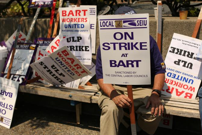 SF Bart Strike 2013