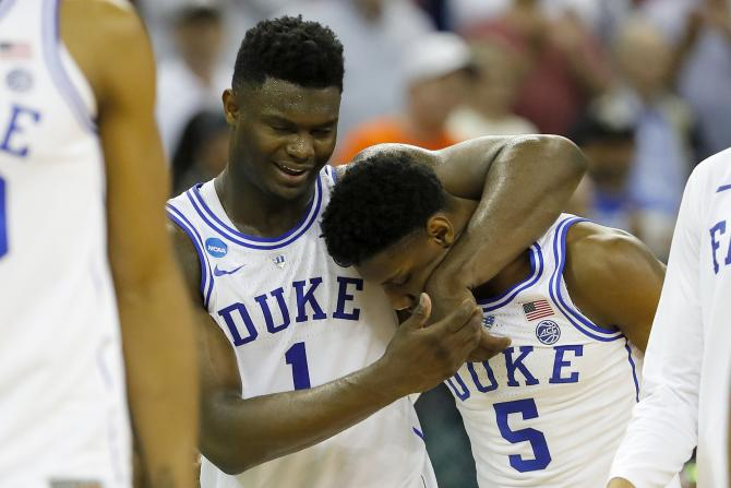 Zion Williamson RJ Barrett Duke