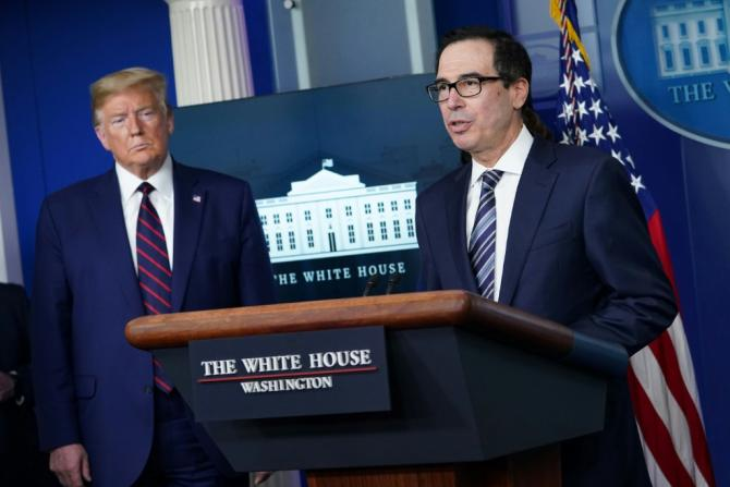 US President Donald Trump instructed Treasury Secretary Steven Mnuchin to ask for more funds to help small businesses