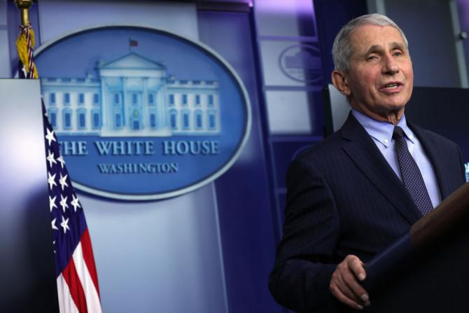 Dr. Anthony Fauci Speaks During A White House Press Briefing